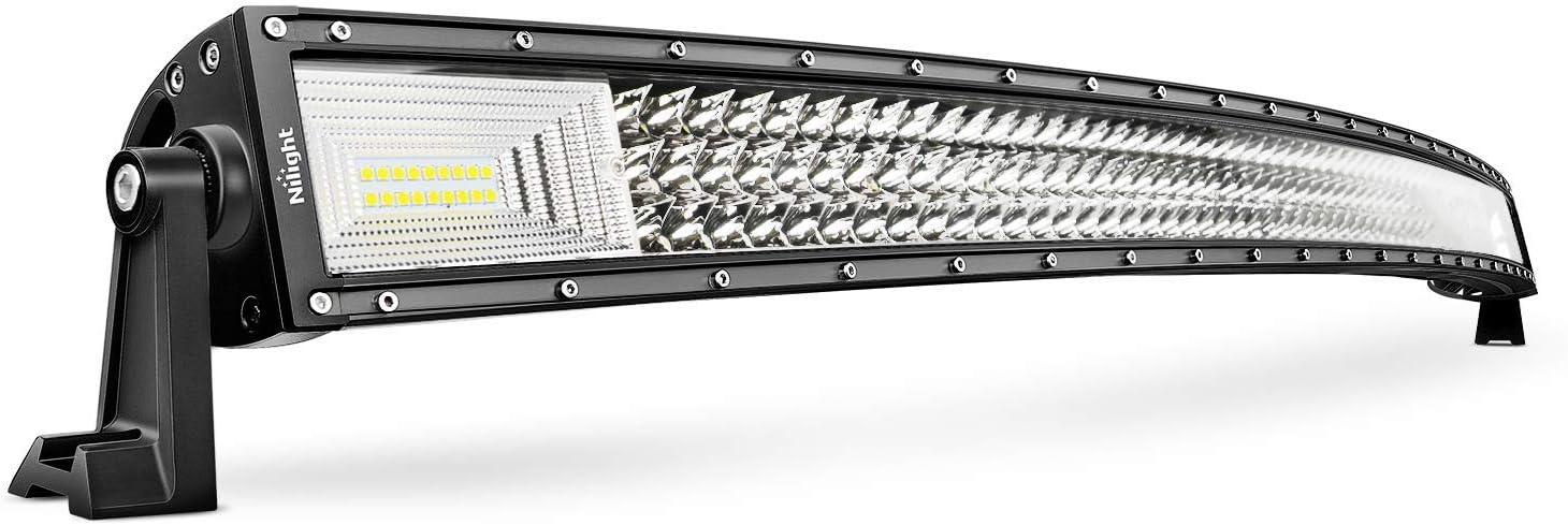 Nilight Curved Triple Row Light Bar