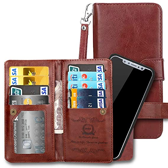 the latest c02b0 738d4 iPhone XR Wallet Case, iPhone 10R Case, AICOO Flip Leather Magnetic  Removable Wallet Phone Case Credit Card Hold for iPhone XR with Credit Card  Slot, ...