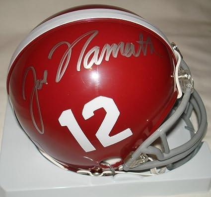 Image Unavailable. Image not available for. Color  Joe Namath Signed  Autographed Alabama Crimson Tide Mini Football Helmet ... d210aecd0