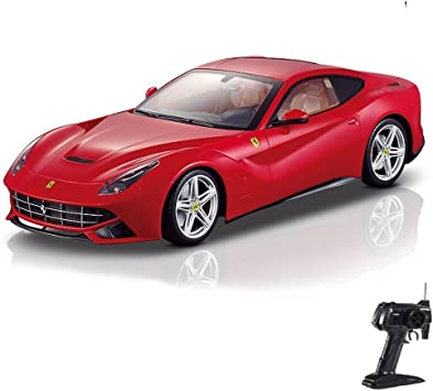 Ferrari F12 Berlinetta Rc Radio Controlled Car Original Style Model Scale 1 14 Licensed Ready To Drive Car With Remote Control And Batteries New Amazon De Spielzeug