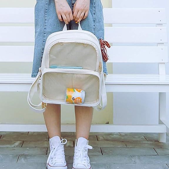 d015dc1195e7 Amazon.com: IdealHome Cute Clear Transparent Women Backpacks PVC ...