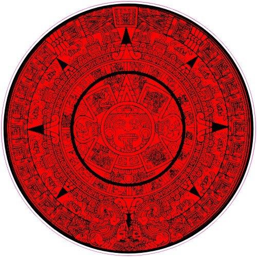 "U.S. Custom Stickers Aztec Calendar Sticker, 9"""