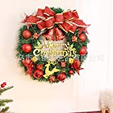 Christmas Garland for Stairs fireplaces Christmas Garland Decoration Xmas Festive Wreath Garland with Christmas wreath Christmas Wreath,60cm