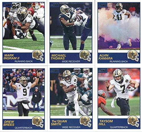 e351c895 2019 Panini Score Football Veteran New Orleans Saints Team Set of 10 Cards:  Drew Brees(#263), Alvin Kamara(#264), Michael Thomas(#265), Mark Ingram  II(#266) ...