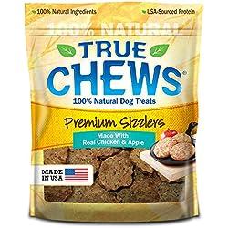 True Chews Premium Sizzlers Dog Treats, Chicken & Apple, 12 Ounce