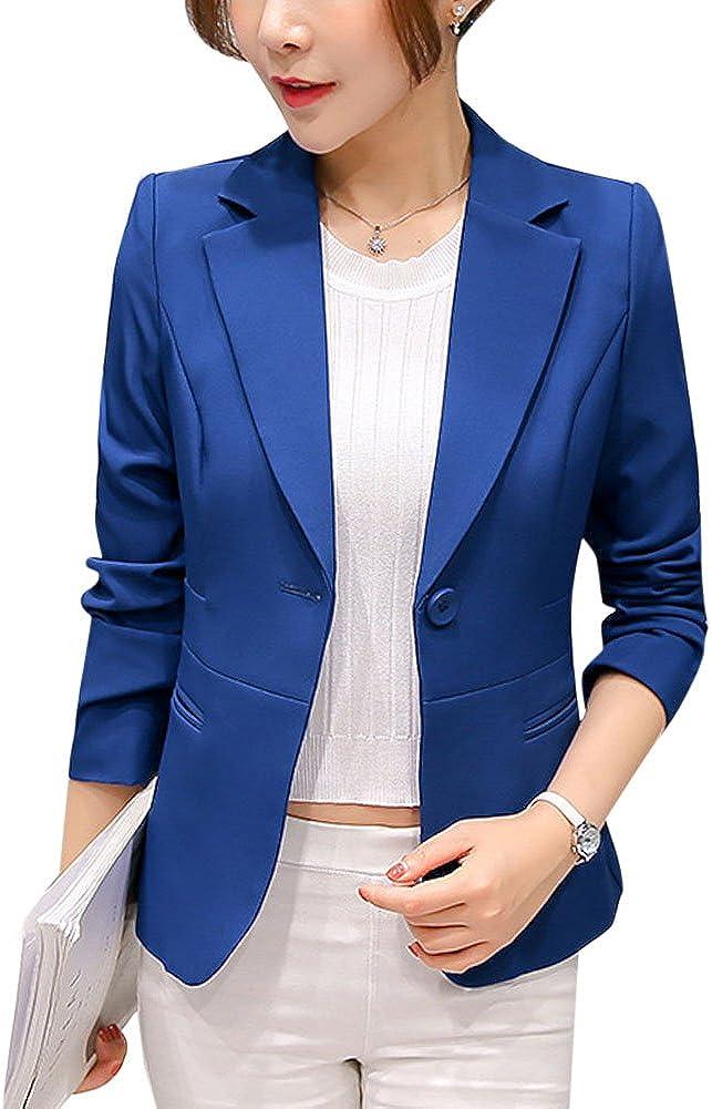 ZhuiKun Donna Blazer Slim Fit Maniche Lunghe Elegante Giacca