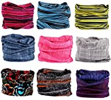 9PCS Outdoor Headscarves, Womens and Mens Headband Headwear (Scratch The Surface)