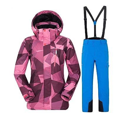 Trajes de esquí de colores de las mujeres Conjunto de traje ...