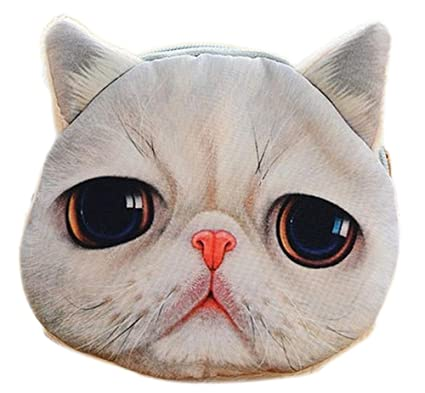 daorier Big Eyes Cute Cat tipo cartera Monedero