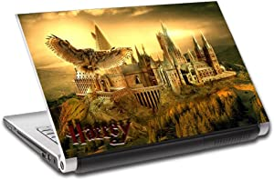 Harry Potter Hogwarts Personalized LAPTOP Skin Vinyl Decal Sticker NAME L169, 15.6""