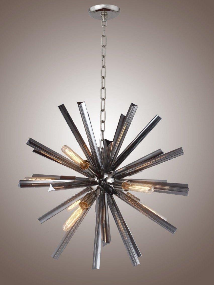 "29"" Inch Crystal Bar Ceiling Pendant Fixtures Chandelier Sputnik Axis (Smoke Glass)"