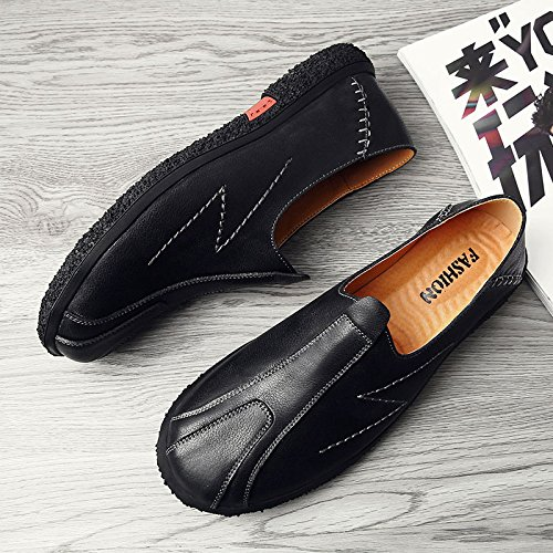 De Transpirables Británico Four Seasons Black Hombre Estilo Cuero Para Zapatos fPwHqw