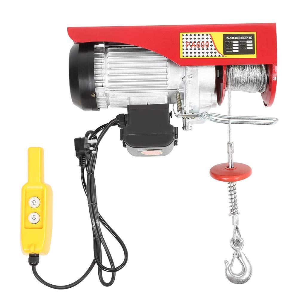 Long Lifespan 300-600kg Electric Hoist Winch Remote Control Cable Durable UK