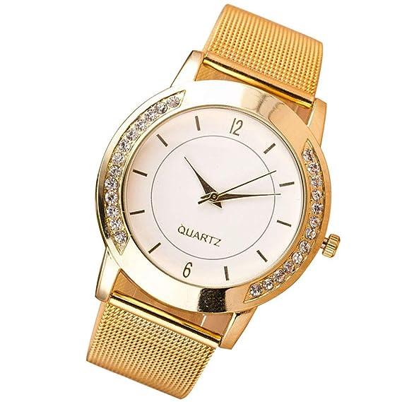 weant Moda Reloj para Mujer Original Reloj Chica Reloj de Pulsera Digital Cuarzo Reloj de Pulsera Acero Sliver Rosa Oro Elegante Brillantes Unisex B: ...