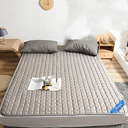 ZHAS Cojín de colchón Impermeable con Cubierta de Cama ...