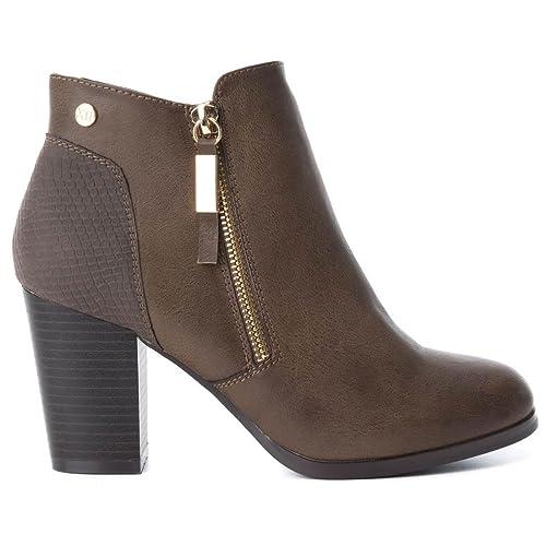 Xti Basics 033582 Botín De Mujer 033582 Sintético Mujer Taupe 39: Amazon.es: Zapatos y complementos