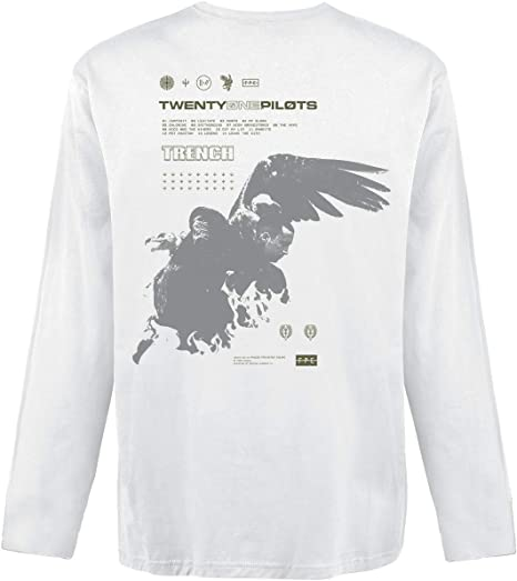 Twenty One Pilots Wings Hombre Camiseta Manga Larga Blanco, Regular: Amazon.es: Ropa y accesorios