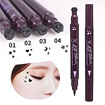 Back To Search Resultsbeauty & Health Double Head Liquid Eyeliner With Eye Stamp Seal Waterproof Black Liquid Eyeliner Star Tattoo Stamp Eyeliner Liquid Beauty Tools