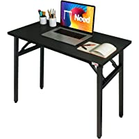 """Need Folding DeskTable for Computer 31 1/2"""" Length No Assembly Sturdy and Heavy Duty Writing Desk for Small Spaces and…"""