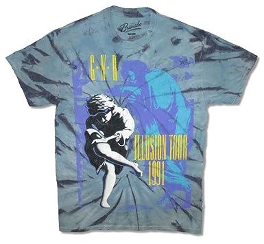 a5690b111b980 Amazon.com: Guns N Roses Use Your Illusion 1991 Tour Tie Dye Men's T ...
