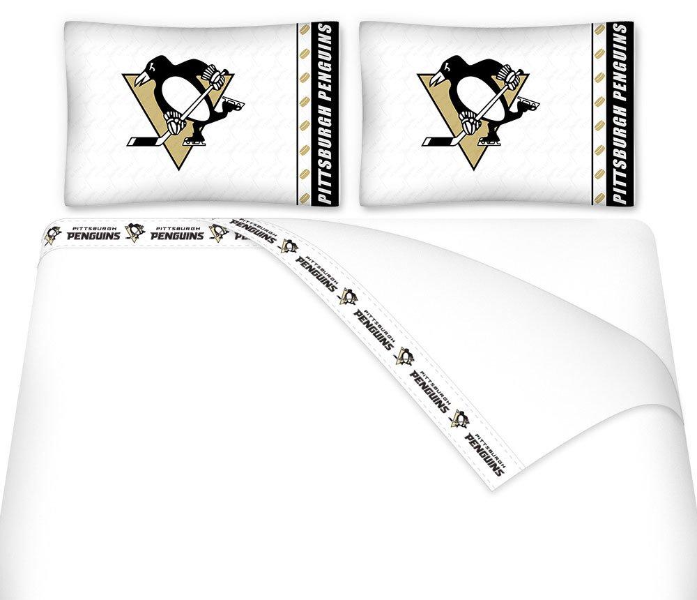 Pittsburgh Penguins Bedroom Decor Amazoncom Nhl Pittsburgh Penguins Hockey 6pc Queen Bedding Set
