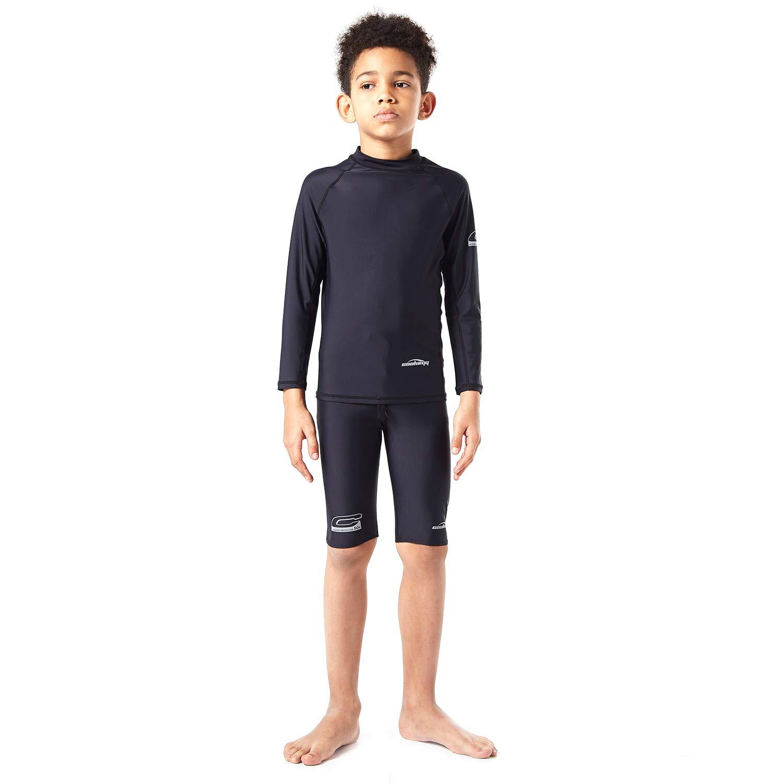 COOLOMG Boys Rash Guard Long Sleeve Shirt Jammer Sport Board Swimsuit Top Bottom Skinny Swim Set Sun Protection