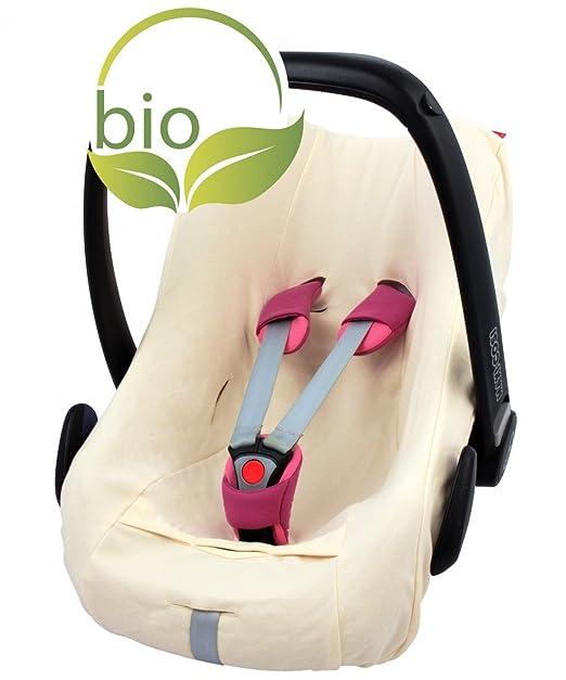 Byboom Sommerbezug Schonbezug Für Babyschale Aus 100 Bio Baumwolle Universal Für Z B Maxi Cosi Cabriofix Pebble City Sps Farbe Beige Baby