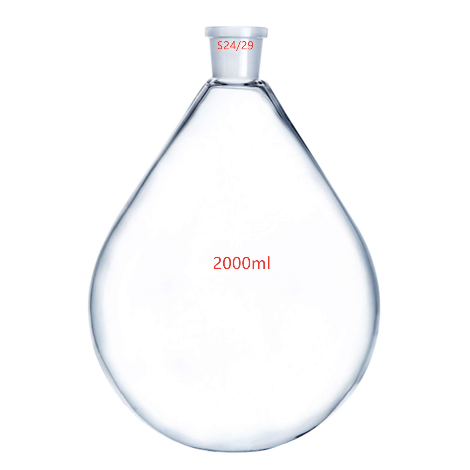 Deschem 2000ml,24/29,Glass Recovery Flask,3 Litre,Rotary Evaporator Vessel Kjelda Bottle by Deschem