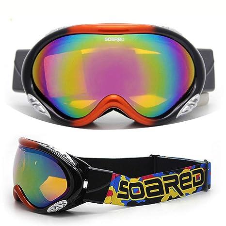 Gafas De Esquí 2 Paquetes, Lentes Multicolores Gafas De Nieve Con ...