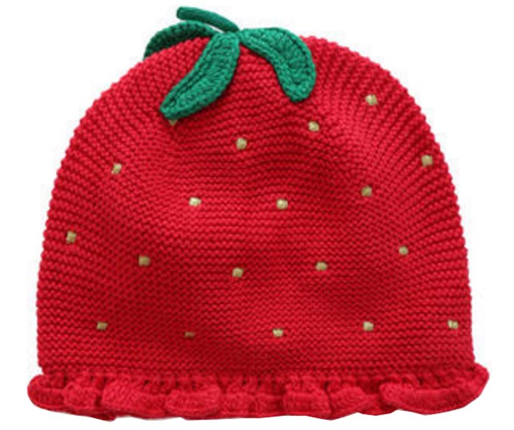 a1cc8a4abf08 Chapeau de fraise chapeau de fille chapeau de nourrisson chapeaux tricotés  pour bébé  Amazon.fr  Sports et Loisirs
