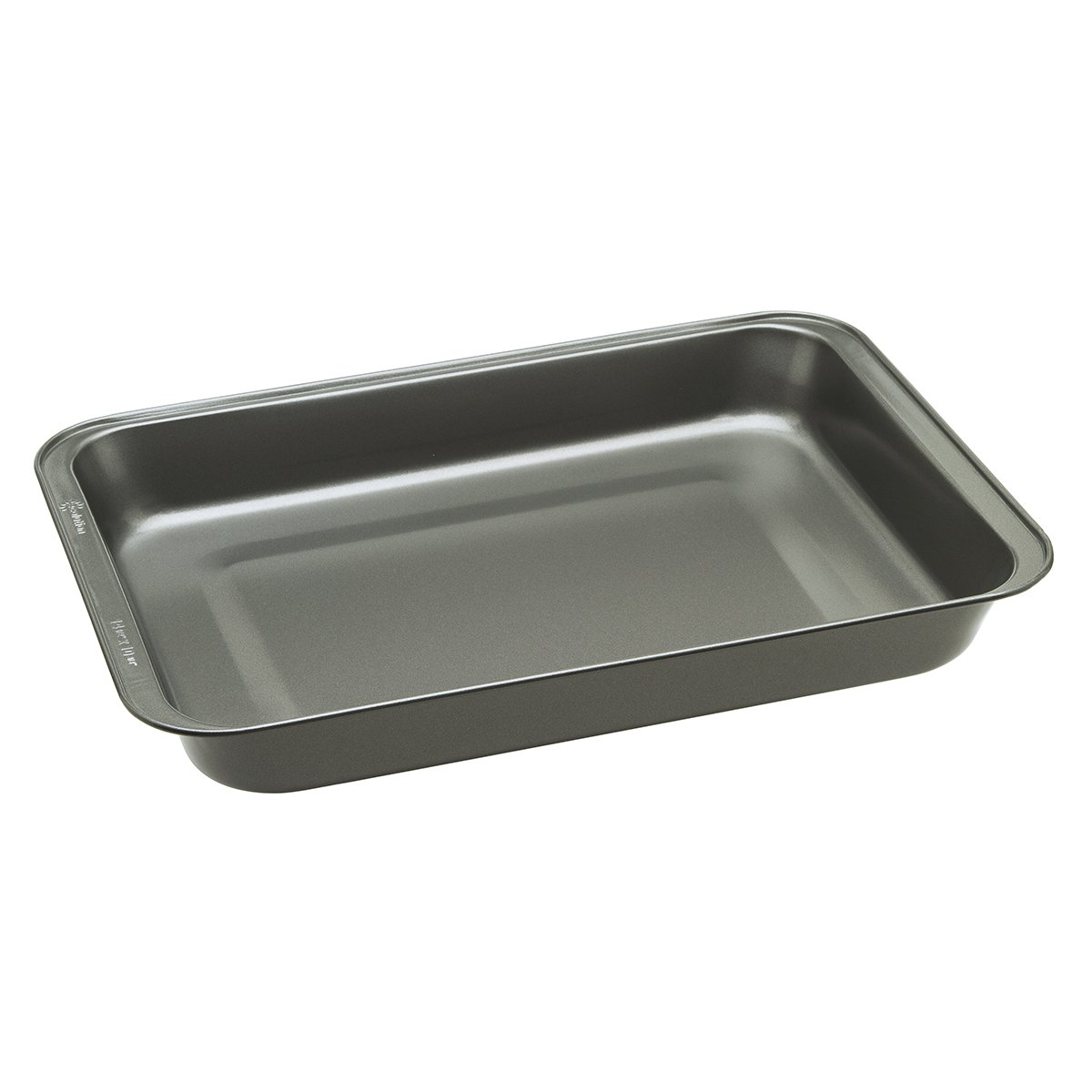 "Ecolution Bakeins Lasagna and Roasting Pan – PFOA, BPA, and PTFE Free Non-Stick Coating – Heavy Duty Carbon Steel – Dishwasher Safe – Gray – 14.5"" x 10.375"" x 1.9375"""