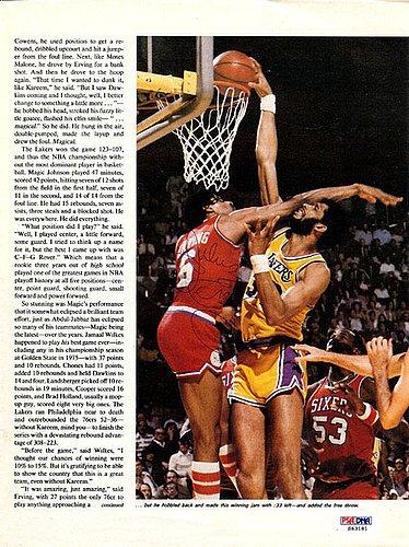 fa5f302ab Julius Erving Signed Magazine Page Photo Philadelphia 76ers - PSA DNA  Authentication - NBA Basketball