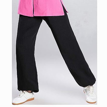 Pantalones Tai Chi Mujer Y Hombres Algodón Traje Meditación ...