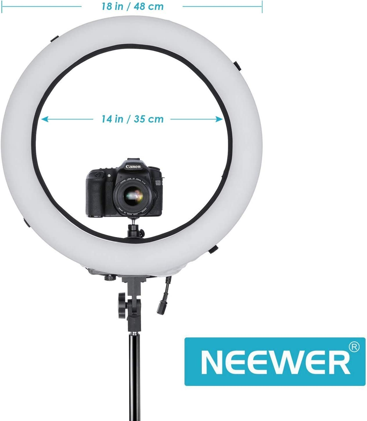 Stand Makeup Selfie Light Neewer Ring Light with Stand Kit: 18-inch Outer 55W Dimmable LED Ring Light with Soft Diffuser Filter Phone Holder and Carrying Bag for YouTube Video etc Soft Tube