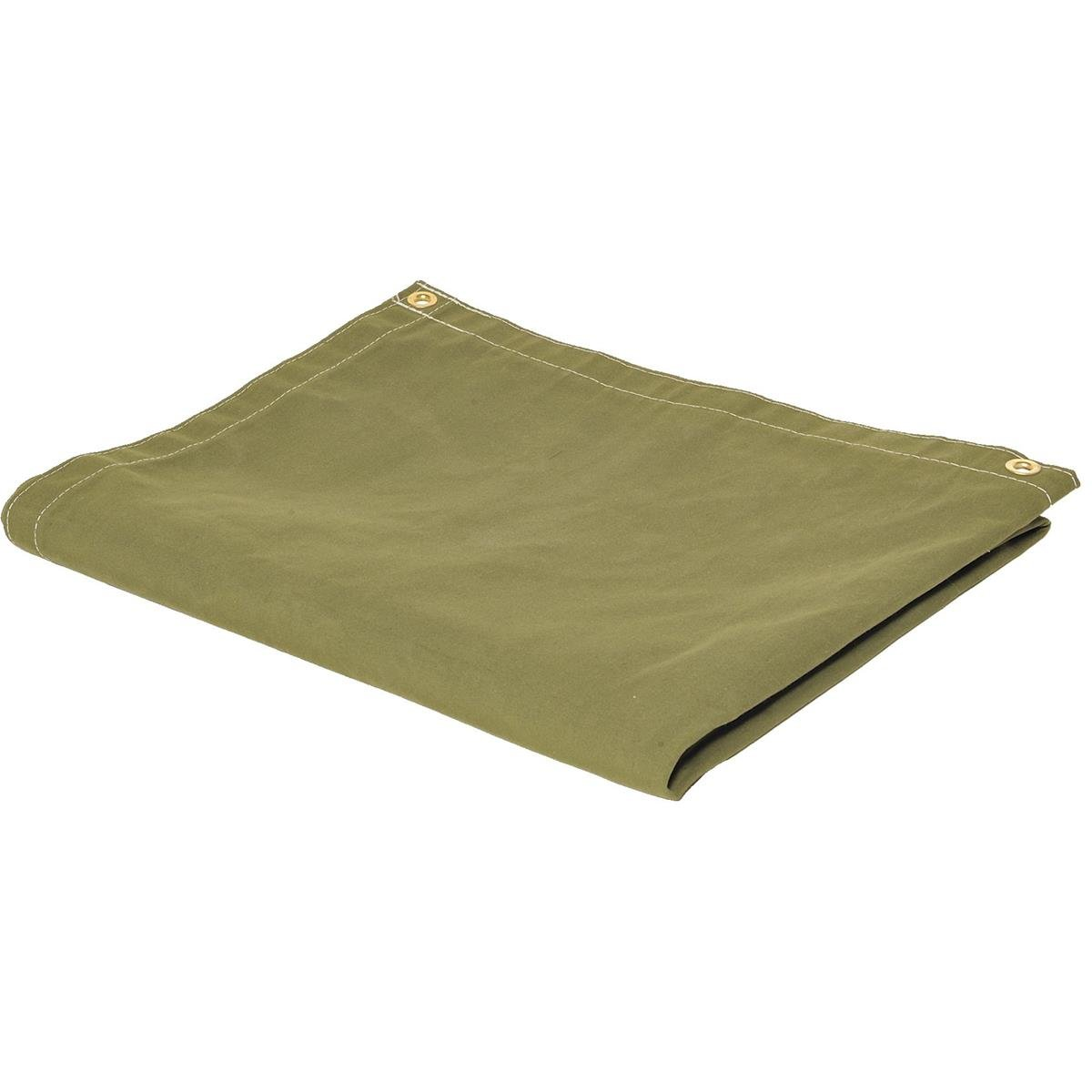 GEMPLER'S Weather Tough Super Tarp, 4'x 8' Olive Green Ultra-Strong Rugged Breathable Waterproof Poly/Canvas Blend Tarpaulin Outdoor Cover with Brass Spur Grommets
