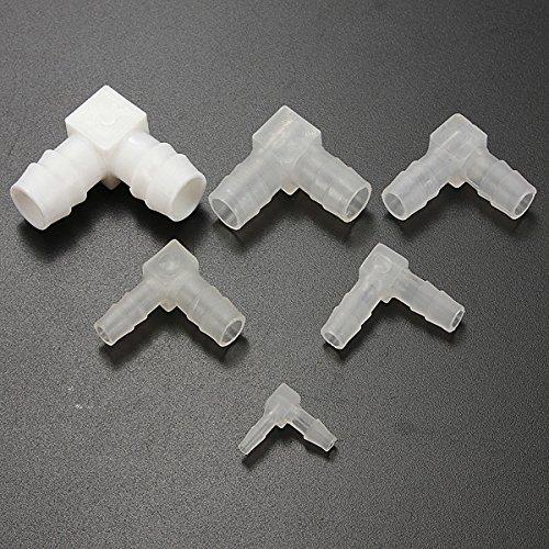 L Plastic Barbed Connectors Tube Joiner Hose Pipe Fitting Adapter (Random: tube diameter3)