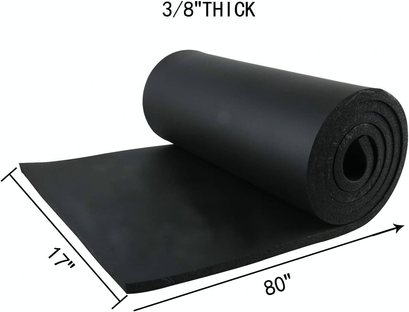 Crafts Cut to Multiple Dimensions and Lengths Cosplay 1//8 Thick x 13 Wide x 80 Long; No Adhesive Costume Homend Sponge Neoprene Without Adhesive Foam Rubber Sheet Gaskets DIY