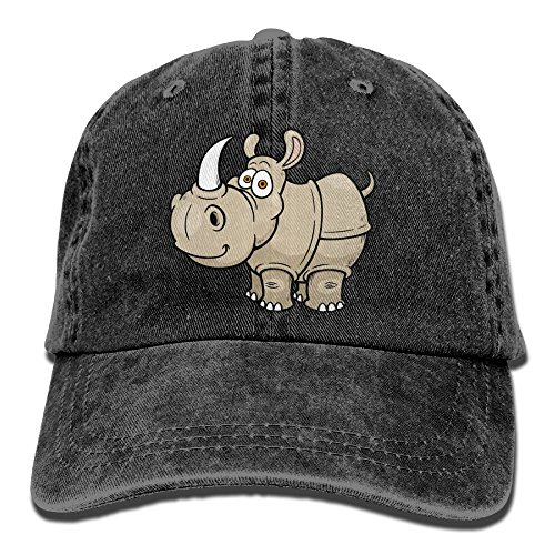 - Rhinoceros Wildlife Animal Denim Hat Adjustable Low Baseball Hats