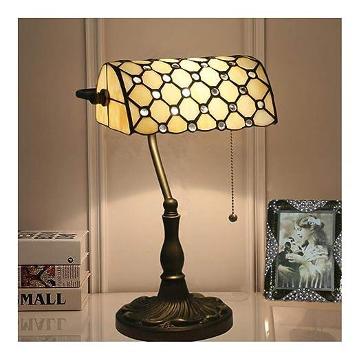 ZHUFU Lámpara de mesa LED, escritorio retro Lámpara de mesa ...