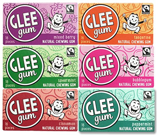 Glee Gum 6-Flavor Variety pack, 16-Piece Packages (12 Total Packages) 2 of each flavor