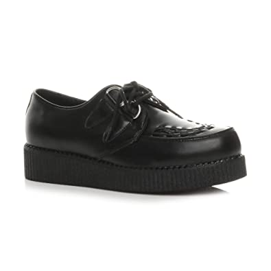 df2b66d48d4 Ajvani Mens lace up Goth Punk Rockabilly Brothel Creepers Teddy boy Shoes  Size 7 41
