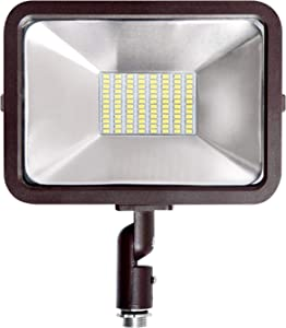 ASD 50W LED Flood Light Outdoor Knuckle Mount 4500Lm 3000K Warm White 120-277V - UL Listed - IP65 Waterproof - Yard Lights - Outdoor Garage Lights - Outside Lights for House Basketball Court