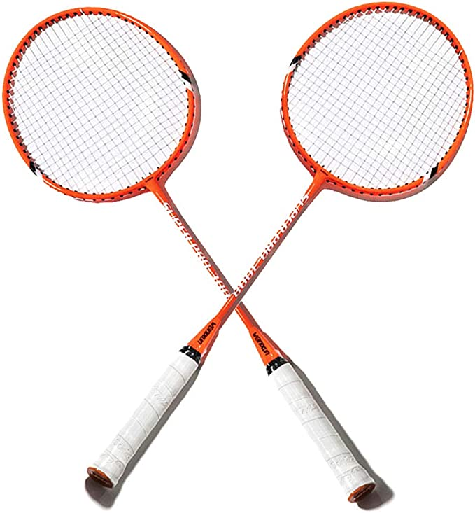 1 Pair Badminton Racket Set Training Racquets with Carrying Bag for Beginner VGEBY1 Badminton Racquets