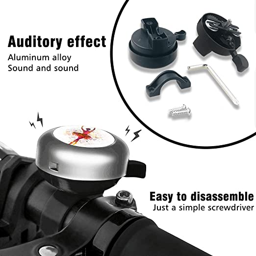 Whiterbunny Bike Bell Holding Hand Bicycle Bell Bike Ringer Bell for Kids and Adults Bike Ringer for Mountain Bike Road Loud Long Crisp Clear Sound Cycling Ringing Bike Horn
