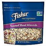 Fisher Chef's Naturals Toasted Sliced Almonds, No Preservatives, Non-GMO, 10 oz