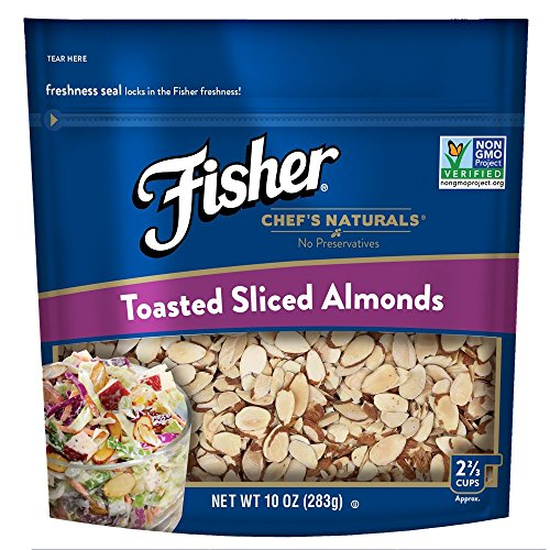 Toasted Almond - FISHER Chef's Naturals, Toasted Sliced Almonds, No Preservatives, Non-GMO, 10 oz