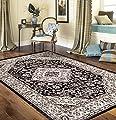 Traditional Oriental Medallion Design Indoor Area Rug