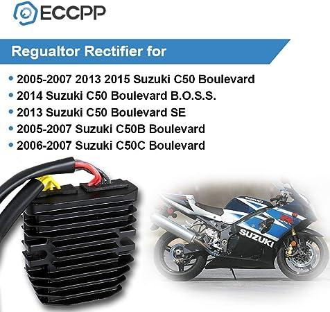SCITOO Regulator Rectifier Voltage Regulator Fit for 2007-2009 Suzuki Bandit 1250S 2006-2009 2011-2017 Suzuki GSXR600 2006-2009 2011-2017 Suzuki GSXR750 Rectifier