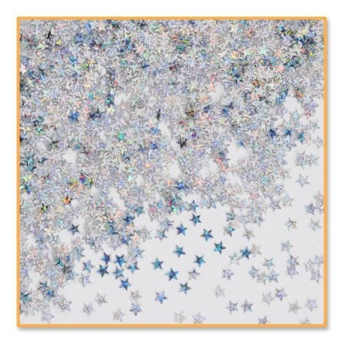 beistle-cn054-silver-holographic-stars-confetti-1-2-ounce