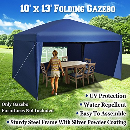 BenefitUSA-EZ-POP-UP-10X13-Folding-Gazebo-Camping-Canopy-Wedding-Party-Tent-WCarry-Bag-With-Side-Wall